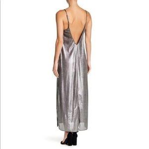 Show Me Your MUMU Silver Metallic Slip Dress!